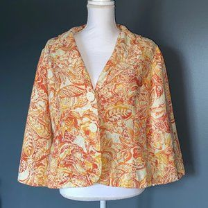 Coldwater Creek Jacket Womens Size M Autumn Print